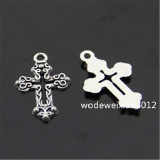20x  Tibetan Silver Cross Pendant Charms Beads Accessories Wholesale  PL067