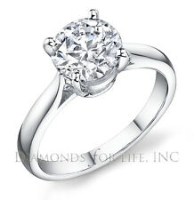 0.70 CT ROUND H SI1 GIA CERTIFIED DIAMOND ENGAGEMENT RING 5.76x5.77x3.51MM