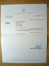1978 WORLD CUP-ARGENTINA FOOTBALL ASSOCIATION OFFICIAL LETTER -ON ORG LETTER PAD