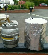 1 X INSULATED CASK COVER & 1  ICE SHEET cask beer cooler pub party  outdside bar