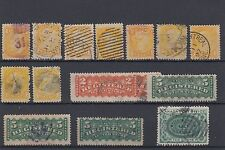 Small Queen Registration stamps, Sp. Del used lot CAnada