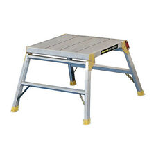 Work Platform Ladder Large 600mm Step Hop Up Folding Bench Step Stool EN131