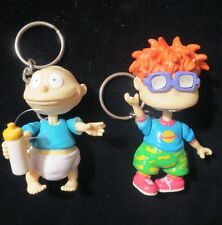 2 Rugrats Tommy Chuckie Keyrings Key Chains Vintage Nickelodeon TV Show Babies
