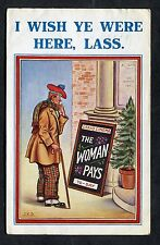 "Comic/Cartoon Card ""The Woman Pays"". Stamp/Postmark - 1932"