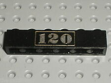LEGO TRAIN Brick 1 x 6 with Gold 120 Pattern ref 3009px26 /Set 120 freight train
