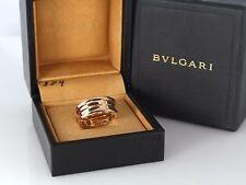 $1,950 Bvlgari 18K Rose Gold Bulgari B.Zero1 3 Row Wedding Band Ring #54 Size 7