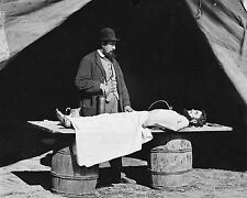 NEW 8x10 Photo Civil War Embalming surgeon at work on soldier's body  About 1863