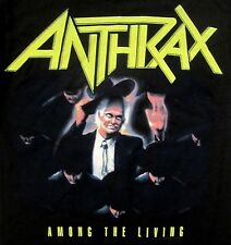 ANTHRAX cd cvr AMONG THE LIVING Official SHIRT MED NEW nbp