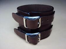 Hand made leather cuff bracelet wristband Johnny Depp cuff Cheergiant Crafts art