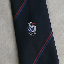 BIGGA TIE VINTAGE BRITISH AND INTERNATIONAL GOLF GREENKEEPERS ASSOCIATION 1980s