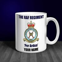 RAF Regiment Personalised Ceramic Mug Gift