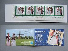 GERMANYBRD, privat booklet MNH 1994, Diakonie Wohlfahrtsmarken trad costumes 100