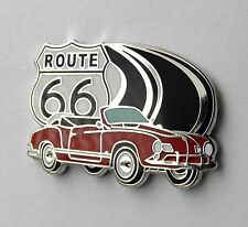 VW VOLKSWAGEN KARMANN GHIA ROUTE 66 CABRIOLET LAPEL PIN BADGE 1 INCH