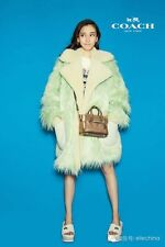 Nwot Coach  $1495 Fluff  Faux Fur  Fuzzy Mint Fuzzy Shearling Jacket  Small Coat