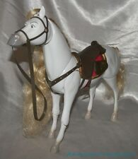 RARE Disney Store Tangled Maximus Jointed Action Horse w/Saddle Makes Sounds