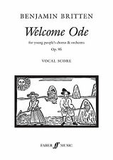 Welcome Ode Vocal Score Mixed Voices Orchestra Intermediate FABER Music BOOK