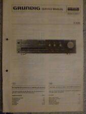 ORIGINALI service manual GRUNDIG AMPLIFICATORE v8100
