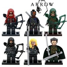 DC Green Arrow ARROW Custom Mini Figures Set of 6 - fit Lego