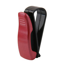 Portable Auto Car SUV Vehicle Visor Sunglasses Ticket Card Clip Holder Red