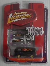 Johnny Lightning - VW T1 Transporter schwarz mit Flammen Neu/OVP