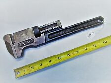 "Monkey Wrench, Vintage TRIMO 12"" Monkey Wrench, Pat'd 12-19-1911, USA"