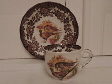 Vintage Royal Worcester Palissy Game Series Quails Pheasants Cup & Saucer