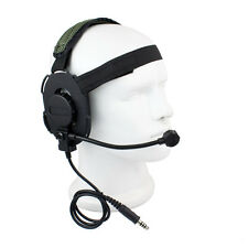 Z Tactical Bowman Elite II cuffia Airsoft Mic Radio Boom HD-03 esercito verde