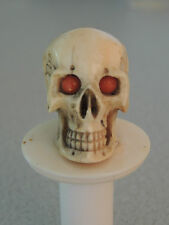 Antique Carved Skull Memento Mori Coral Eyes