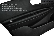 BLACK STITCH 2X FRONT DOOR ARMREST SKIN COVERS FITS NISSAN QASHQAI 2007-2013