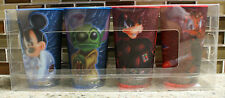 New Authentic Disney World STAR WARS Mickey Stitch Lenticular Cups - Set of 4