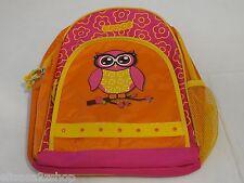 RARE Crocs Girls jibbitz kindergarten bookbag backpack preschool owl orange pink