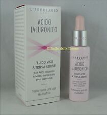 ERBOLARIO Acide Hyaluronique FLUIDE Visage triple action 28ml anti-rides