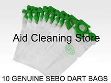 10 Genuine Sebo VOGUE FELIX & DART Series Vacuum Cleaner Hoover Bags 7029ER