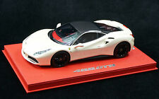 1/18 BBR FERRARI 488 GTB FUJI WHITE CARBON ROOF RED DELUXE BASE LE 10 PCS N MR
