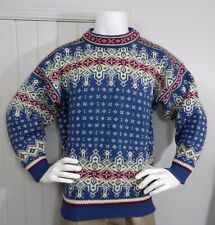 DALE OF NORWAY UNISEX PURE WOOL CLASSIC NORDIC Winter DESIGN Ski  SWEATER  SZ L