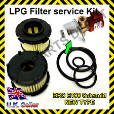 LPG GPL BRC ET98 solenoid filter cartridge KIT with O-rings repair overhaul kit