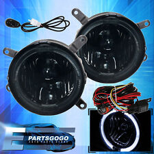 2005-2009 Ford Mustang GT Halo Fog Lights Lamps Front Smoked Replacement Pair