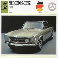 1963-1967 MERCEDES BENZ 230SL Sports Classic Car Photo/Info Maxi Card