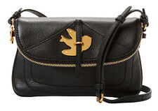 $278 MARC BY MARC JACOBS Petal To The Metal Bird Flap Percy Crossbody Bag Black
