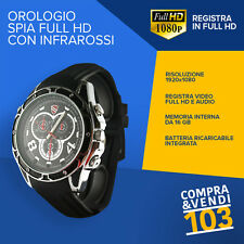 SPY WATCH 16GB 1080P FULL HD MICRÓFONO OCULTO VISION NOCTURNA SPY VER INFRARROJO