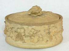 Antique Early 19Th C Wedgewood Caneware Pie Game Covered Dish Cauliflower