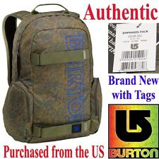 Burton EMPHASIS Skateboard Laptop Backpack CELL CAMO Travel School Skate Bag