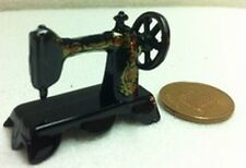 Sewing Machine Black Metal Miniature. Dollhouse 1/12 scale