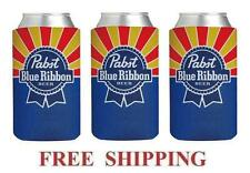 PABST BLUE RIBBON 3 PBR 16oz PINT BEER CAN WRAP COOLERS KOOZIE COOLIE HUGGIE NEW