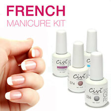French Manicure 4pcs UV LED Soak Off Gel Nail Polish French Tips top/basecoat