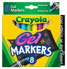 Crayola Digital Light Designer Gel Markers Refill Pack - 8 Washable Gel Markers