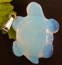 Beautiful Unique Opal Opalite Carved Tortoise pendant bead z1854