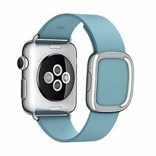 Magnetic Closure Modern Buckle Genuine Leather Wrist Band Strap for Apple Watch