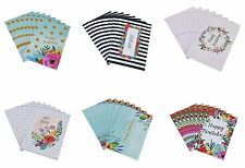 48 Happy Birthday Greeting Cards Bulk Assortment 6 Unique Watercolor Floral