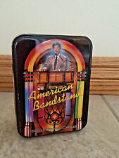 American Bandstand Collector's Trading Cards w/ Metal Case Approx 100 cards bx36